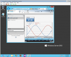 OSIsoft's PI Coresight running on Windows Server 2012
